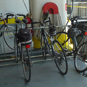 my tiny bike on the ferry over
